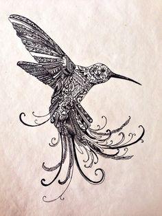 Humming bird drawing on Etsy, £20.00