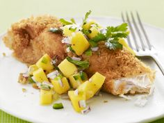 Jay's Potato-Crusted Fish with Mango Salsa Recipe : Food Network Kitchens : Food Network - FoodNetwork.com
