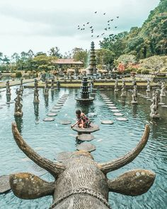 Tirta Gangga is an iconic location in Bali, #Indonesia  Photo by: IG @komang_sudana