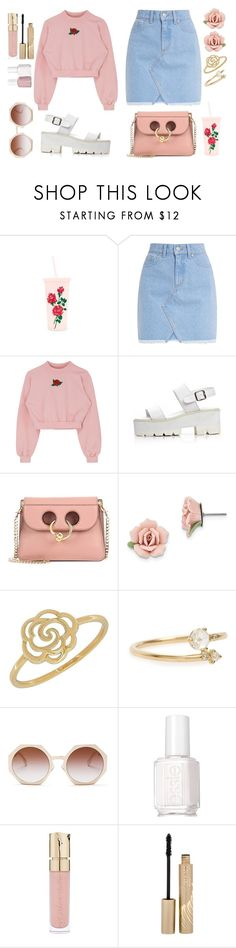 """""""Untitled #740"""" by walkeralexzandreia ❤ liked on Polyvore featuring J.W. Anderson, 1928, Lord & Taylor, WWAKE, Fendi, Essie, Smith & Cult, Stila, Spring and sandals"""