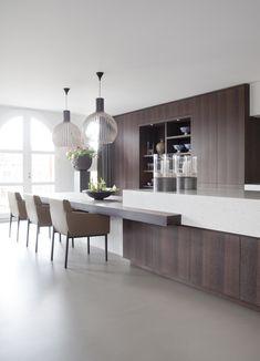 Home Decor Helpful Strategies For Contemporary Interior Design kitchen Kitchen Benches, Rustic Kitchen, New Kitchen, Kitchen Dining, Kitchen Decor, Kitchen Seating, Kitchen Island, Dining Table, Modern Kitchen Design