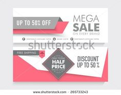 stock-vector-mega-sale-with-discount-and-free-shipping-offer-two-sided-website-header-or-banner-set-265733243.jpg (450×358)