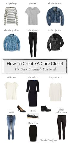 How To Create A Core Closet