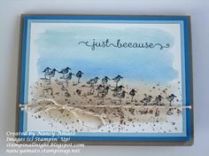Watercolor Beach Card  by Nancy Amato,  Gorgeous Grunge, Watercolor Paper, Wetlands