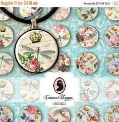 This is a Digital Collage Sheet Its great for your craft projects and for jewelry making. You can use them also for magnets or stickers...just use