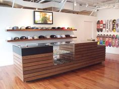 shop counter with front storage hipster - Google Search