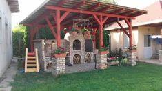 Outside Fire Pits, Barbecue Area, Outdoor Oven, Pergola, Outdoor Structures, Bar Grill, Outdoor Pergola, Outdoor Fire Pits