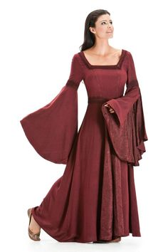 Renaissance Child /'s Princess Party OVERDRESS ONLY Size:Lass  Color:Cranberry