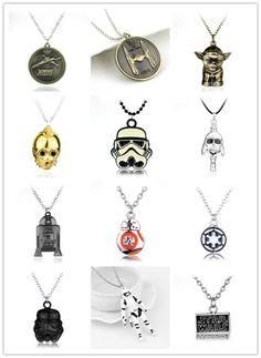 Star Wars Stormtrooper Metal Necklace Alloy Pendant Super Hero Necklace Movie Jewelry pendant 1pc