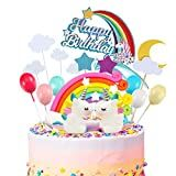 ♕Rainbow Unicorn Cake Decor: Made from high quality resin, striking color, non toxic, safety and not edible, suitable for kids to use. ♕Rainbow Unicorn: DIY a cute and sparkly Unicorn Cake or a Rainbow Cake. Birthday Flags, Birthday Candy, Happy Birthday Banners, Happy Birthday Cake Topper, Happy Birthday Balloons, Birthday Cake Decorating, Unicorn Cake Decorations, Boutique Patisserie, Unicorn Party Bags