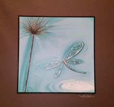 Lisa Pollock - Dragon Fly - Blue & Brown colouring - great gift   eBay