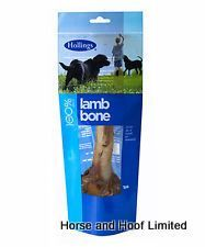 Hollings Lamb Bone 10 x 1 Hollings natural dog treats are pre-packed in colourful informative packaging which also allows the products to hang with euroslots to create a vibrant display.