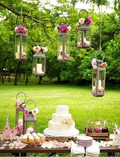 Light up your garden with these  altered and decorated lanterns .. how romantic