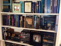#blue #bookshelf #Interior #interiør #elleinterior