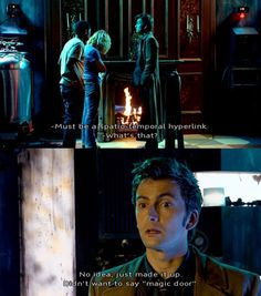 "10th Doctor - one of my favorite scenes from one of my TOP FIVE FAVORITE Doctor Who episodes (""The Girl in the Fireplace"")."