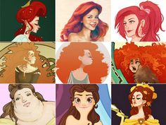 Artistic Twists On Disney Princesses (And Other Heroines)