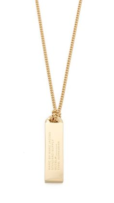 Marc by Marc Jacobs Trompe l'Oeil Toggles & Turnlocks ID Tag Necklace