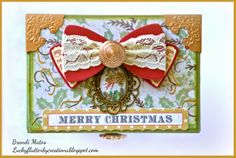 #DCWV #Luminarte paint #altered box #altered drawers #christmas box