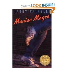 This Newbery Medal winner tells the mythical tale of a legendary hero: 12 year old Jeffrey Magee – known as Maniac Magee. An orphan with no place to call home, Maniac Magee enters the town of Two Mills, a town sharply divided by race Reading Group Activities, Reading Groups, Guided Reading, Reading Lists, Newbery Award, Newbery Medal, Books For Boys, Childrens Books, Teen Books