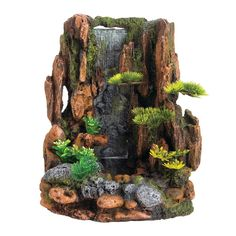 Top Fin® Mountain Cliff Waterfall Aquarium Ornament at PetSmart. Shop all fish ornaments online Fairy Crafts, Garden Crafts, Garden Projects, Garden Art, Garden Design, Fish Ornaments, Aquarium Ornaments, Magic Garden, Bois Diy