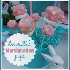 E* Decorated Marshmallow Pops #marshmallow #pops