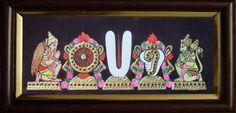 "Changu Chakram Namam Garuda & Anjaneya - 13 x 6"" - sumarts.biz/"