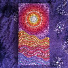 Original Painting by Elspeth McLean Desert Sunset by ElspethMcLean