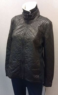 Apt 9 Women Motorcycle Jacket Faux Leather NEW/NWT LRG Black Sherpa Collar $140R #Apt9 #Motorcycle