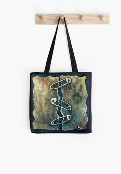 """INNER EQUILIBRIUM - Tote Bag - Original Art Print by Deyana Deco. Selected design printed on both sides, 1"""" wide super strong cotton shoulder strap (14"""" length), Soft yet hard wearing 100% spun Polyester Poplin fabric, Dry or Spot Clean Only. #totebag #abstract #blue #artprint #originalart"""