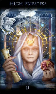 High Priestess card from the Legacy of the Divine Tarot. The High Priestess says we will know the truth when we stop and listen the small, still voice within. Tarot By Cecelia, Divine Tarot, Tarot Learning, Tarot Card Meanings, Tarot Readers, Major Arcana, Oracle Cards, Tarot Decks, Archetypes