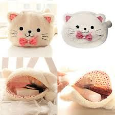 Large Soft Plush #Cat #Makeup Bag