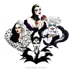Queens of Darkness #OnceUponaTimeSeason4B #CruelladeVil #TheEvilQueen…
