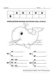 Resultado de imagem para atividades para 1 ano alfabetização letra b