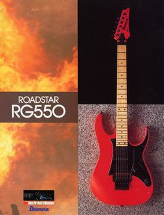 Such a versatile guitar. The weapon of choice some twenty seven or eight years later, the older model RG550, great guitar. Makes me feel so old!