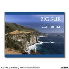 BIG SUR (California) Postcard