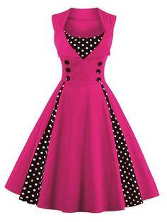 ZAFUL 7 color Plus size Summer Women Red polk dot vintage Audrey hepbum 50s Rockabilly robe Retro Party Dress Feminino Vestidos