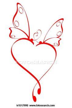 32 Ideas Tattoo Butterfly Heart Ink For 2019 Schrift Tattoos, Paar Tattoos, Tattoos For Daughters, Love Heart, Happy Heart, Heart Art, Body Art Tattoos, Tatoos, Doodle Art