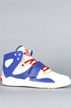 Adidas | The Roundhouse Mid Sneaker (white/prime ink blue/tan blend)