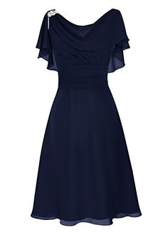 Dresstells® Short Prom Dress Cowl Bridesmaid Dress Chiffon Mother of Bride Dress Navy Size 2 Dresstells http://www.amazon.com/dp/B01A1ZRQNC/ref=cm_sw_r_pi_dp_Smcaxb0N7ZR9P