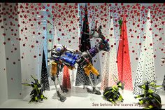London department stores have the best Christmas window displays!! Credit: Frantzesco Kangaris John Lewis Christmas window display on Oxford Street