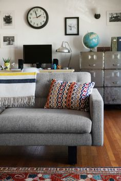 """The living room is one big open space separated into an office and living room zone,"""