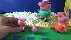 Peppa Pig with her family make a snowman