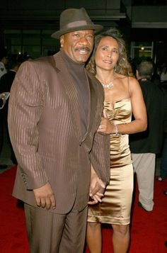 Ving Rhames with wife Deborah The New York Premiere at the Tribeca Film Festival of Mission Impossible III, at the Ziegfeld Theatre. Ving Rhames, Tribeca Film Festival, Mission Impossible, Big Dogs, Kitty Cats, Cool Cats, Chocolates, Men's Clothing, Peplum Dress