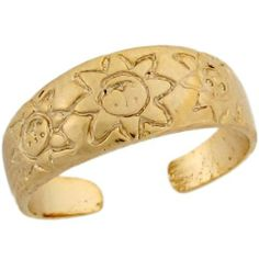14k Real Yellow Gold Etched Sun Design Cute Ladies Toe Ring Jewelry Liquidation. $159.20. Made in USA!. Made with Real 14k Gold!