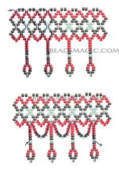 Free pattern for necklace Selma
