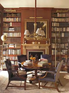 I would love to have a library for my books.