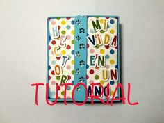 DIY tutorial mini album niño paso a paso mini album bebé - YouTube