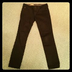 "AG ""Stilt"" black straight leg jeans size 29R Comfortable, black, straight leg jeans. Gently used, not no holes or fraying. FINAL SALE. AG Adriano Goldschmied Jeans Straight Leg"