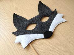 Máscara Lobo de feltro