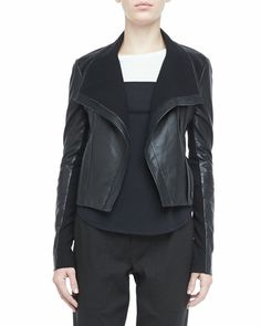 Vince - Asymmetric Leather Motorcycle Jacket